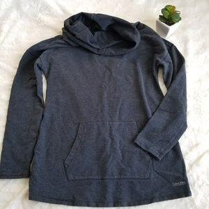 Calvin Klein Performance Gray Cowl Neck Sweater